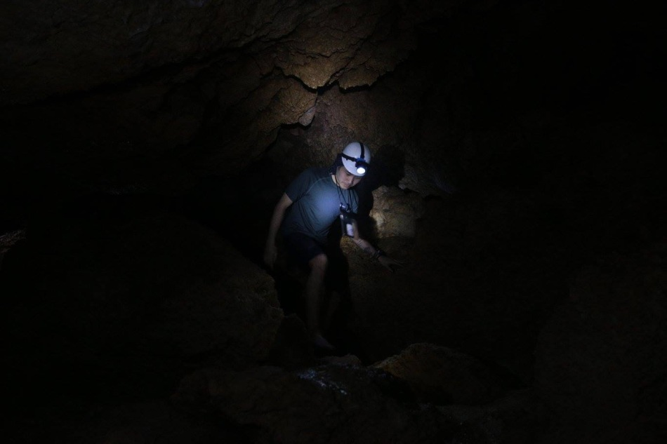 There was a lot of crawling and ducking through this 800-meter cave.