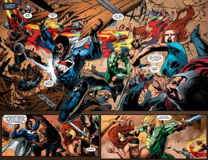 "A panel from ""Convergence Issue 4"" 