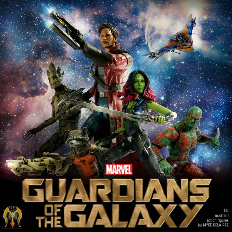 The Guardians of The Galaxy cast, custom-made by dela Paz from the mass-market figures.   PHOTO by MYKE DELA PAZ