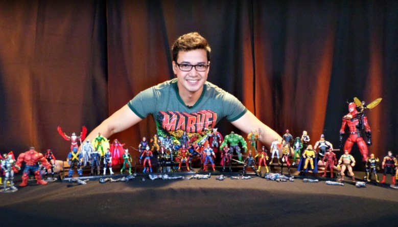 Dela Paz with some of his prized customized toys. | PHOTO via MYKE DELA PAZ
