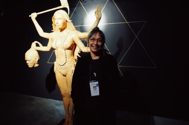 Sculptor Agnes Arellano at Art Fair Philippines 2017