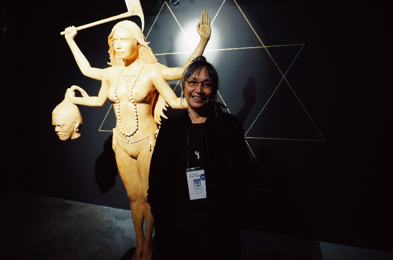 Sculptor Agnes Arellano at Art Fair Philippines 2017