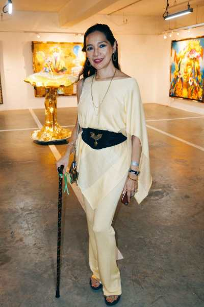 Artist Marivic Rufino wears positivity from H to T.