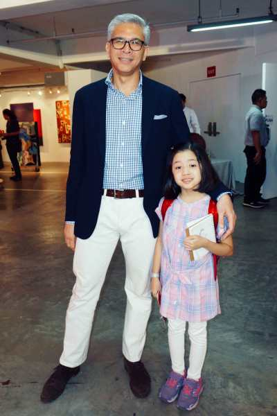 Mickey Colayco and his daughter may a charming tandem. No twinning required.