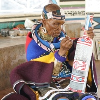 81-year-old South African artist Esther Mahlangu and 600-year-old Belvedere vodka team up
