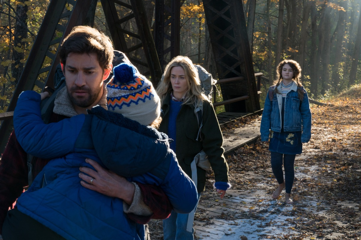 Emily Blunt and John Krasinski star in horror-thriller 'A Quiet Place'