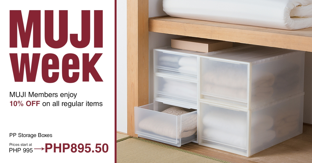 It's Muji Week — you get a discount!