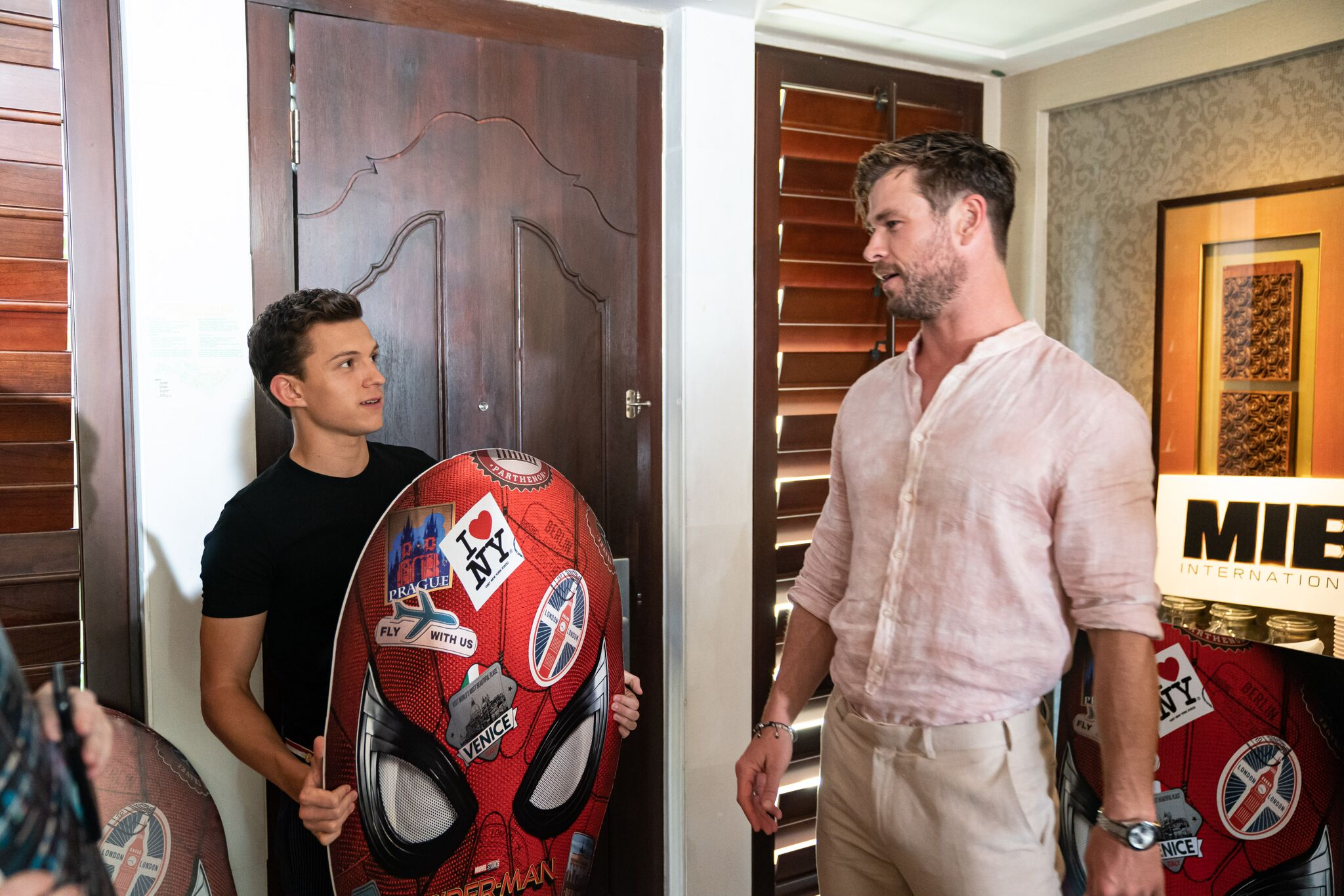 Watch: Tom Holland and Chris Hemsworth roast each other in 'Unsuited'