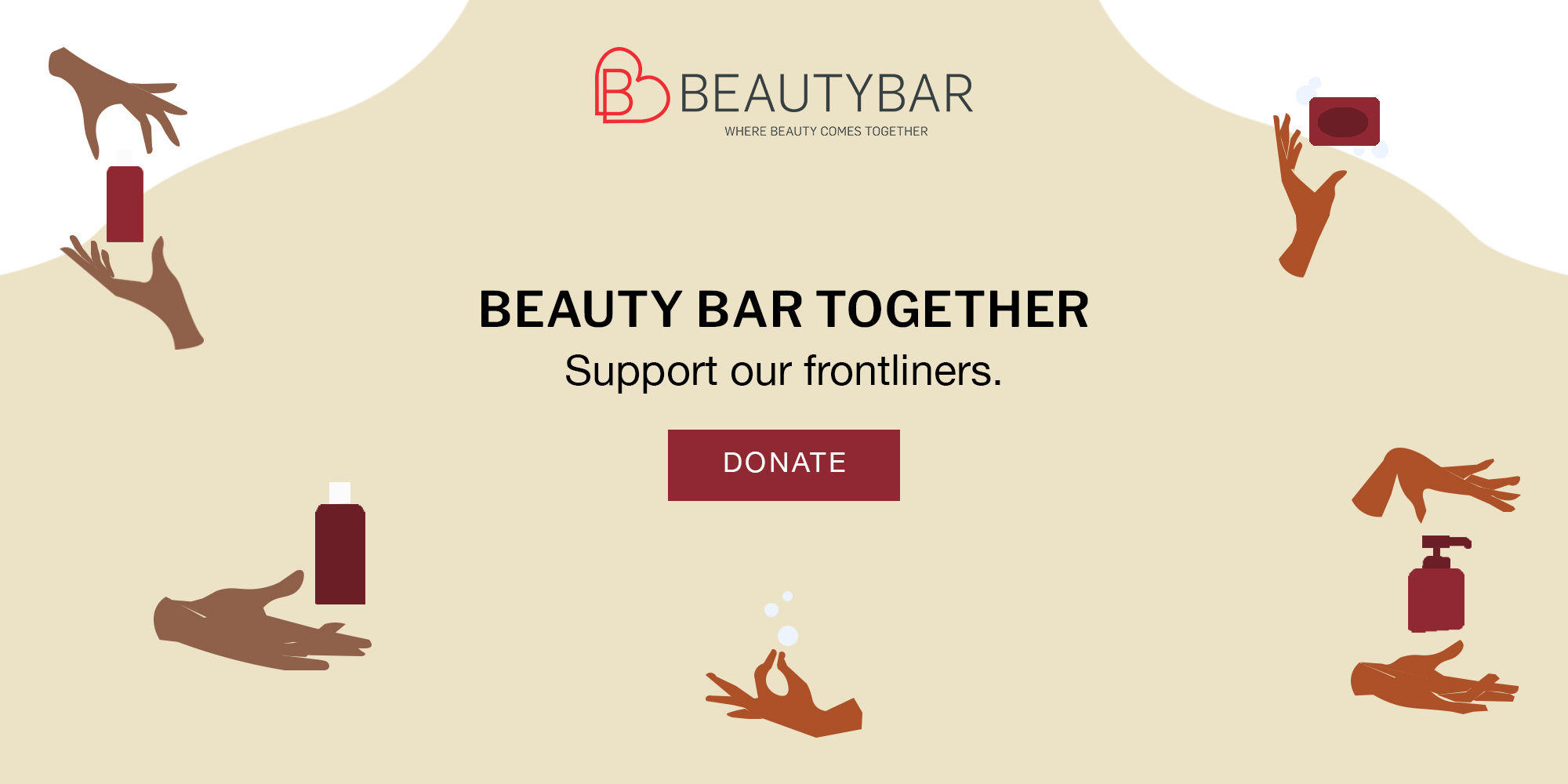 Donate a self-care gift set to a frontliner with Beauty Bar